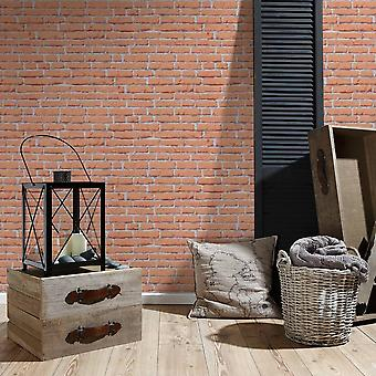 A.S. Creation AS Creation Red House Brick Pattern Wallpaper Faux Effect Stone Embossed 319432