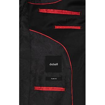 Dobell Mens Black Tuxedo Dinner Jacket Slim Fit Velvet Shawl Lapel