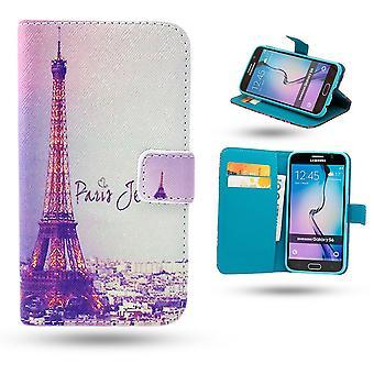 Samsung Galaxy S6 Edge Fall/Leder Brieftasche-Paris