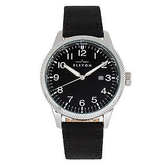 Elevon Bandit zegarek skórzany-Band w/Date-czarny