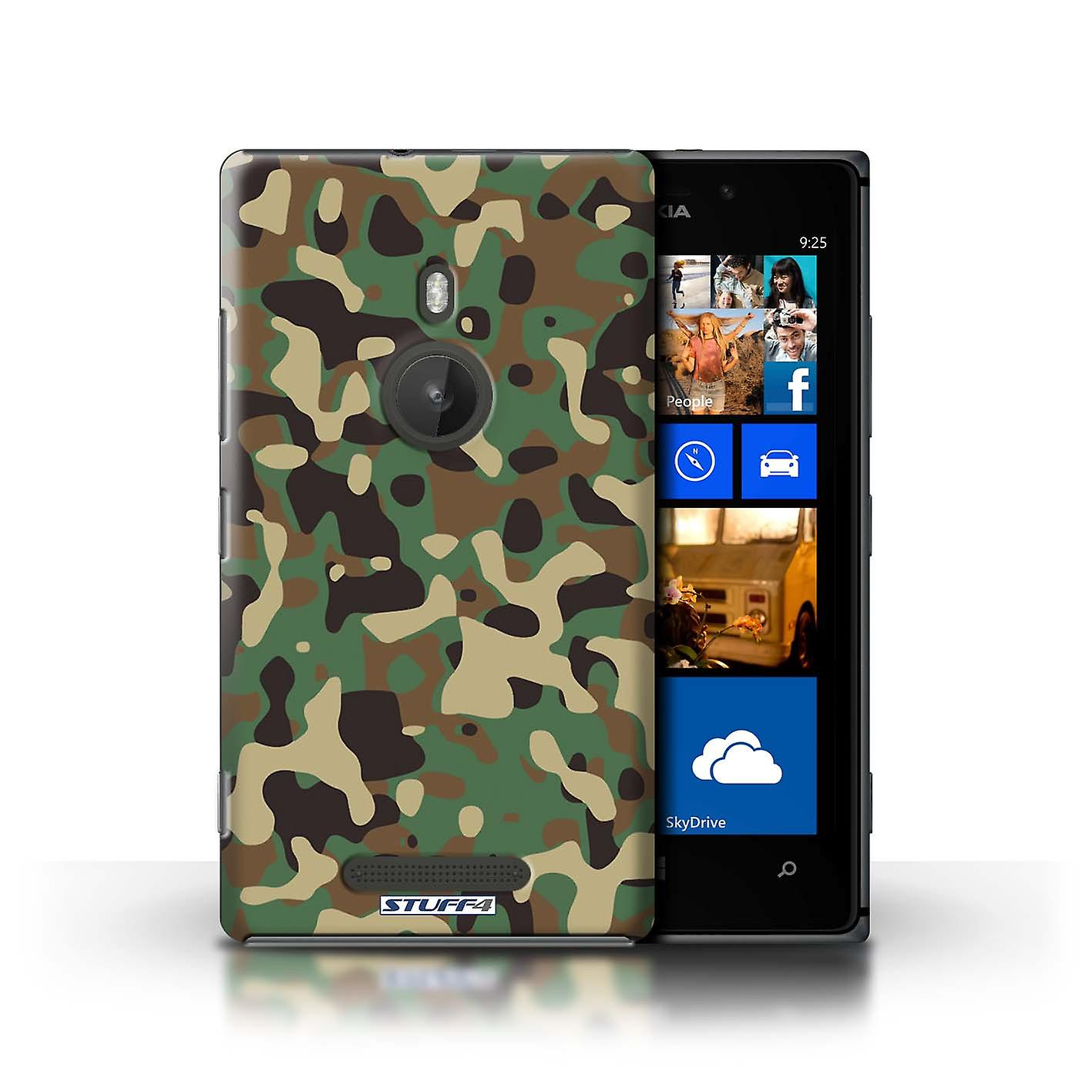 STUFF4 Case/Cover for Nokia Lumia 925/Green 3/Camouflage Army Navy