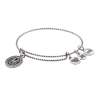 Alex and Ani PATH OF LIFE Double Sided Embossed Charm Bangle Bracelet - Rafaelian Silver