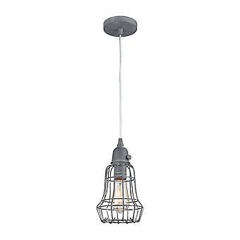 Squashcourt 1-light mini pendant in concrete