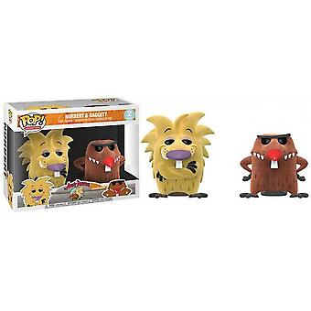 Angry Beavers Norbert and Daggett Flocked US Pop! Vinyl 2 Pk