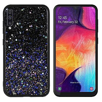 Back Cover Spark Glitter TPU + PC for Samsung A30S Blue
