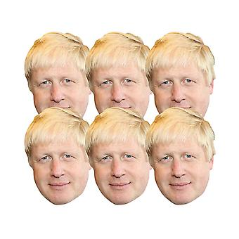 Boris Johnson 2D card party fancy mekko naamarit pack 6