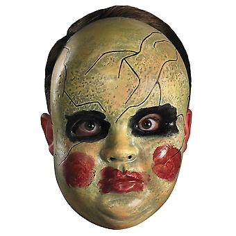 Smeary Doll Face Creepy Horror Clown Halloween Womens Mens Costume Mask