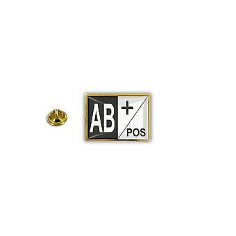 Pins Pin Badge Pin's Metal Broche Pince Papillon Groupe Sanguin Ab+ Ab Positif
