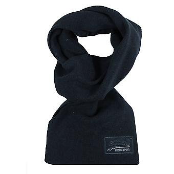 Superdry orange label navy grit scarf