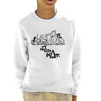 Krazy Kat Group Picture Kid's Sweatshirt