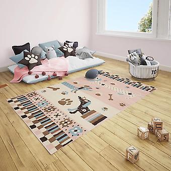 Short flor children's carpet dog dachshund