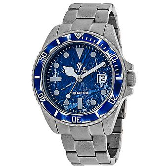 Christian Van Sant Men's Montego Vintage Blue Dial Watch - CV5103