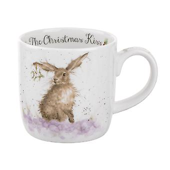Royal Worcester Wrendale Christmas Kiss Hare Single Mug