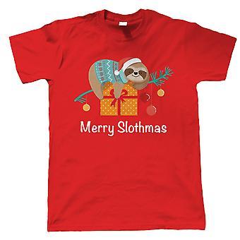 Fröhliche Slothmas, Herren T-Shirt - Weihnachten niedlich lustige Geschenk ihn Papa