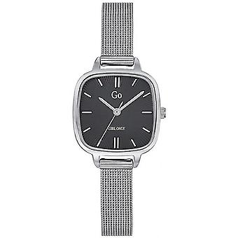 Watch Go Girl Only 695246 - Silver Steel Milanese Black Dial Carr Women
