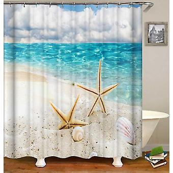 Two Starfish On The Beach Shower Curtain