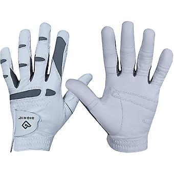 Bionic Men's Left Hand Performance Grip Pro Golf Glove - White