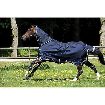 Rambo Duo 2-in-1 Horse Turnout Rug - Navy/sky Blue/brown