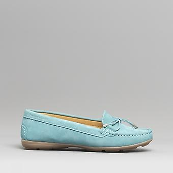 Hush Puppies Maggie Ladies Leather Driving Shoes Teal