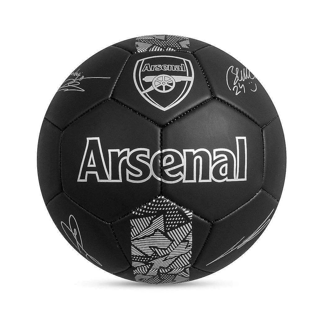 Arsenal FC Phantom Signature Team Merchandise Football Soccer Ball Black