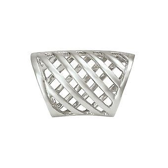Eeuwige collectie zilveren diagonalen sjaal ring
