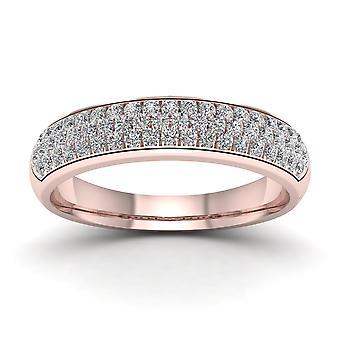 IGI certifié 10 K or Rose 1 / 2ct TDW Diamond Wedding Band (I-J, I2)