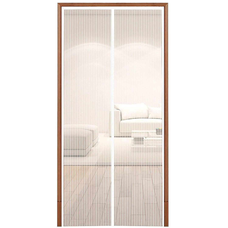 TRIXES White Magnetic Fly Insect Screen Door Mesh Door Curtain Panel 90 x 210cm