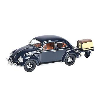 VW Beetle with Trailer Diecast Model Car