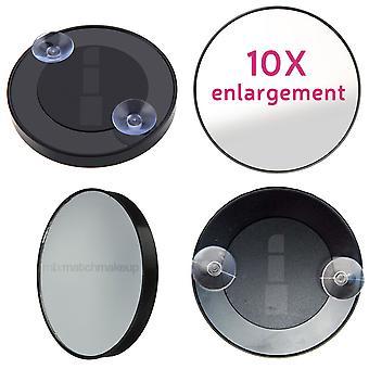 Mooie 10 x Englargement uitvergroten spiegel met 2 zuignappen