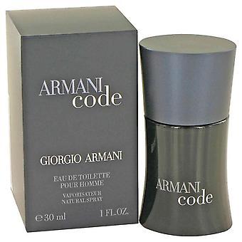 Armani code eau de toilette spray by giorgio armani 416209 30 ml
