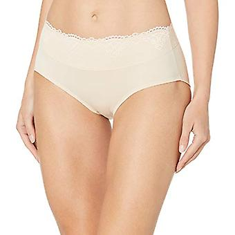 Bali Women's Passion for Comfort Hipster Panty, Soft Taupe lace, 6
