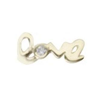 925 Sterling Argent 14k Gold Plated Single Mate CZ Cubic Zirconia Simulated Diamond Love Stud Boucles d'oreilles Bijoux Cadeaux pour