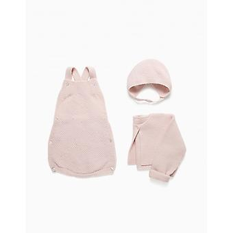 Zippy Nb Set Knit Pink