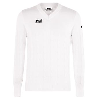 Slazenger Mens Classic Cricket Sweater Long Sleeve V-Neck Pullover Top