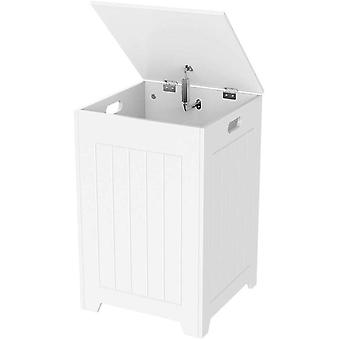 Bathroom Laundry Bin/Basket Large Square Bathroom Storage Unit/Cabinet Simple Assembly, Wood 40 x 40 x 61 cm