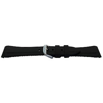 Rubber watch strap for rolex gmt oyster & omega seamaster black/green 20mm