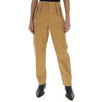 Alberta Ferretti 03101624a0148 Women's Beige Cotton Pants