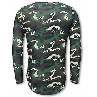 King of Army Shirt- Long Fit Sweater - Camouflage