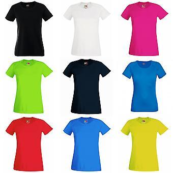 Frukten av veven damer/kvinners ytelse sportsklær t-skjorte