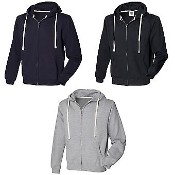Front Row Mens Zip Through Hooded Sweatshirt / Hoodie