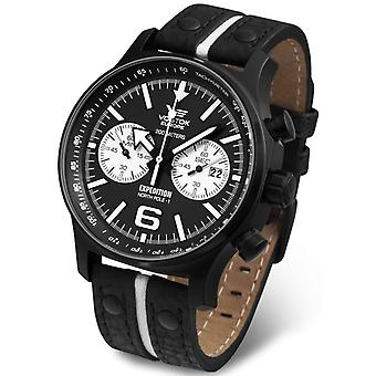 Vostok expedition north pole Quartz Analog Man watch with cowhide bracelet 6S21-5954199