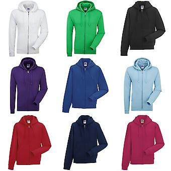 Russell Mens authentiek Full Zip Hooded Sweatshirt / Hoodie