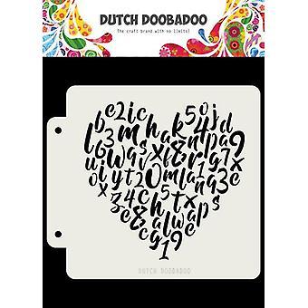 Hollanti Doobadoo Hollanti Mask Aakkoset sydän163x148 470.715.153