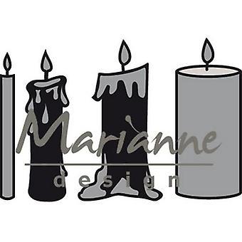 Marianne Design Craftables Cutting Dies - Kaarsen Set CR1426