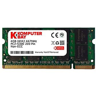Komputerbay 4GB DDR2 667MHz PC2-5300 PC2-5400 DDR2 667 (200 PIN) memory SODIMM Laptop