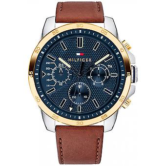 Watch Tommy Hilfiger 1791561 - Multifunction Leather Brown man