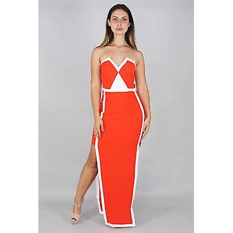 Licht & Schatten Spleiß Maxi-Kleid