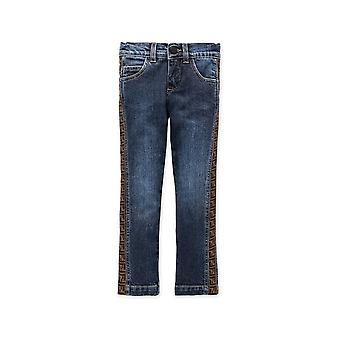 Fendi Tape Logo Jeans