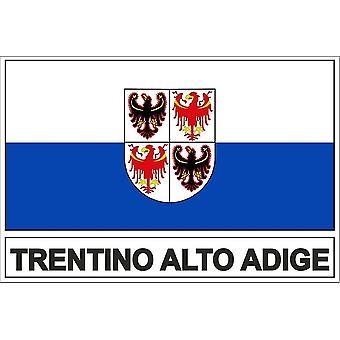 Pegatina de palo bandera italiana trentin adige alto adige