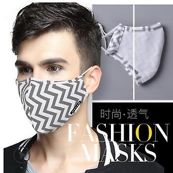 PM 2.5 Mundmaske / Mundkappe wiederverwendbar – grau - 2 zusätzliche Filter